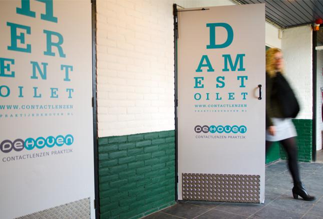 Deurbelettering DMHC Dordrecht
